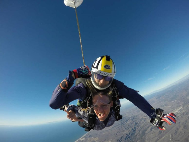 Living-on-Purpose Cindy-watson-skydiving-tandem