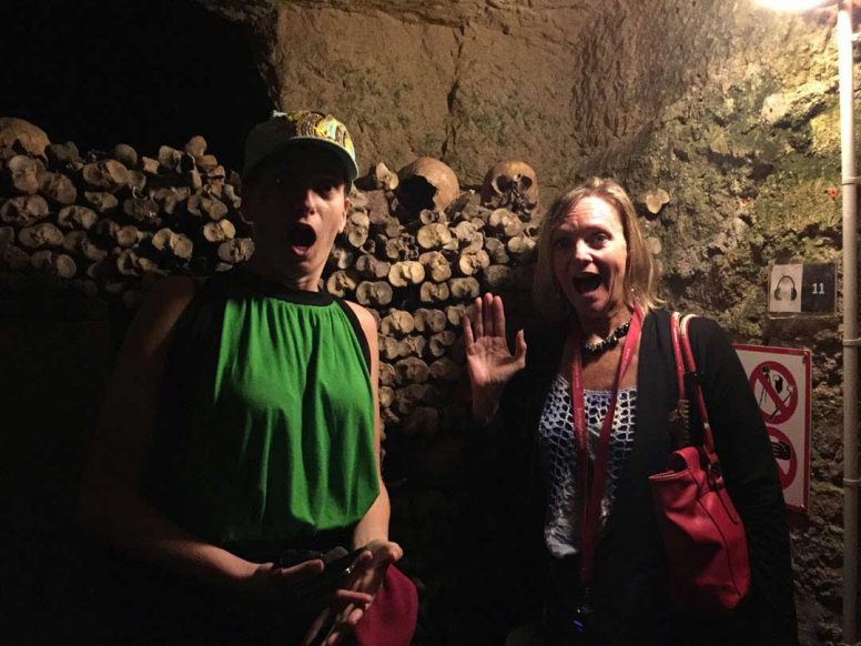 No FEAR: Negotiations Fear Cindy Watson Down In the catacombs in Paris