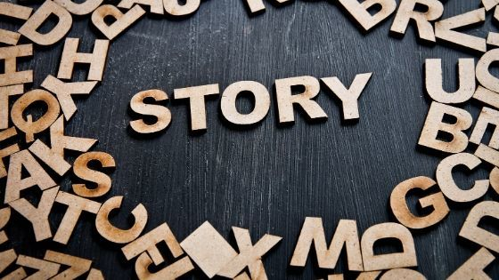 Flip your Story flip your life wooden letters