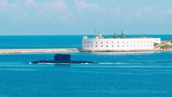Negotiate-Life-Based-On-Principles-Of-Submarine-Operation rising from ocean